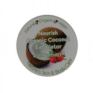 Nourish Organic Coconut Cream Facial Exfoliator with Rosehip 250gm Professional Size