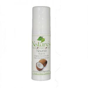 Nourish Organic Coconut & Chia + Coenzyme Q10 Facial Oil 30ml