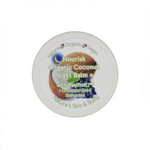 Nourish Organic Coconut Night Balm + Co-enzyme Q10 & Grape Skin 100gm