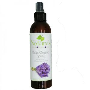 Relax Organic Spray 250ml. A powerful synergy blend of essential oils and extracts known for their relaxation and rest properties, to support the body & mind in relaxation & rest.Essential oil blend, sweet orange, lavender, majoram